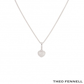 Theo Fennell White Gold Diamond Heart Pendant